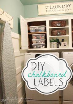 DIY~ Chalkboard Labels
