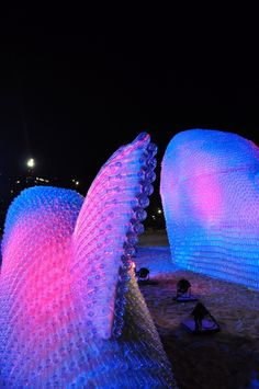 /Giant Fish Sculptures Made from Discarded Plastic Bottles in Rio