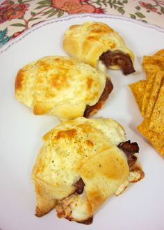 Beef Pizzaiola Crescents - roast beef, cheese, pizza sauce wrapped up in a crescent roll