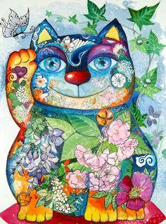 <3 art cat