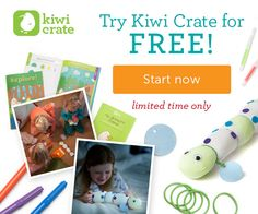 Kiwi Crate is offering a free Sample Box right now — for just the price of shipping ($3.95)! This sample box has all of the materials and instruction for you to make one fun project with your child. Have you tried Kiwi Crate before? I just ordered and am excited to test it out!!