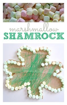 Marshmallow Shamrock Craft - pinned by @PediaStaff – Please Visit  ht.ly/63sNt for all our pediatric therapy pins