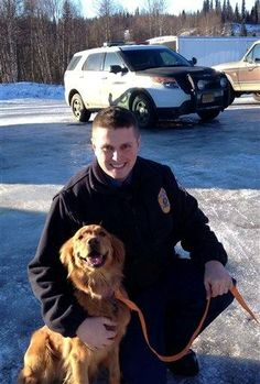 Man says dog saved his life after snowmobile crash.....sooooo <3 my Goldens!