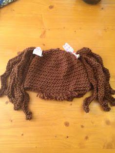 "MandaLynn's Crochet Treasures : Baby ""Hair"" Hat Crimpy Pig Tails"