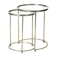 Go Home Kensington Circle Nesting Tables, Set of 2