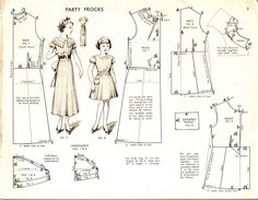Children's Weat no 1- 1937. Party frocks