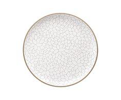New for Heath Ceramics Spring 2013: Alabama Chanin Camellia Etched Serving Platter, $275. #heath #ceramics #handmade #serveware #design