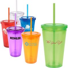 Acrylic Tumbler with Matching Straw: fill with candy for a great favor! #QLPcontests