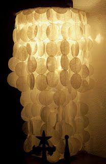 DIY paper lamp shade!