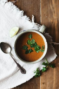 Thai Butternut and Sweet Potato Soup // The Little Red House