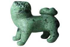 Turquoise Stone Foo Dog on OneKingsLane.com