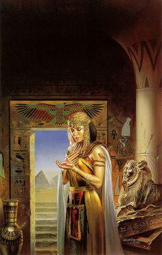 boris vallejo - egyptian princess