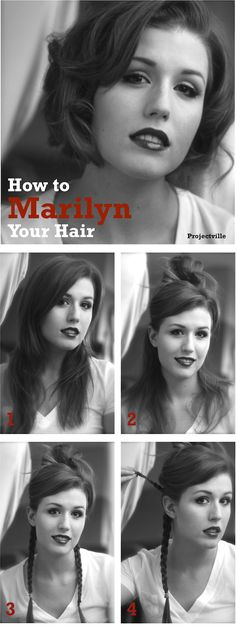 How to Marilyn your long hair.