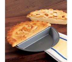 Shop Chicago Metallic Split Decision Nonstick Pie Pan, 9-inch at CHEFS.  Great idea for baking a half pie!