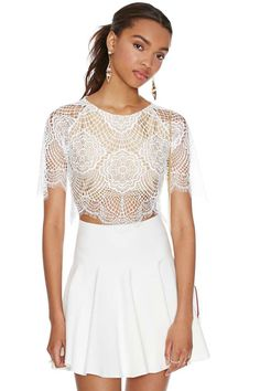 For Love And Lemons Grace Crop Top