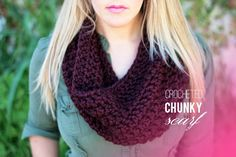 FREE CROCHETED CHUNKY SCARF PATTERN
