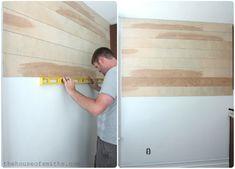 DIY wood planked walls