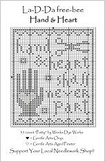 Hand  Heart Free Cross Stitch Chart from La-D-Da