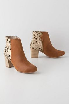 Kenna Cutout Booties $168 #anthropologie