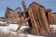 Leaning Outhouse outhous