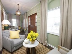 2 enclosed front porch ~ Eclectic Entryways from Sabrina Soto on HGTV