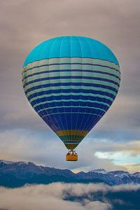 Hot air ballooning over the mountains in Spain. #travel #photography