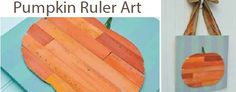 Pumpkin ruler art is the perfect Halloween home decor!