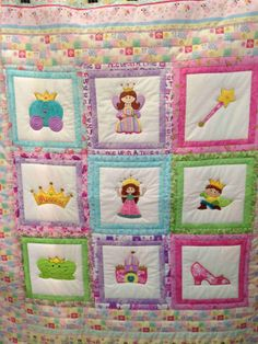 Quilted Pieced Crib Quilt or Throw for your by TheKwiltyKatKnapurr, $200.00 crib quilt, princess quilt, quilt piec, appliqu, piec crib