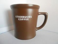 STARBUCKS 2008 Coffee Mug Dark Chocolate Brown 16 oz Large