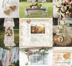 Shabby Chic Flowers Wedding Styling Mood Board from The Wedding Community