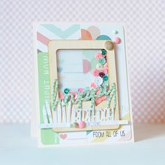 A sequin filled birthday card using My Mind's Eye & WPlus9!!