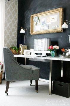 Pretty office by @Emily Schoenfeld Schoenfeld Schoenfeld