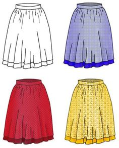 Easy Summer Skirt Sewing Pattern - Laura Marsh Sewing Patterns