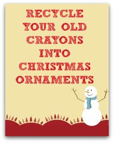 Recycled Crayon Christmas Ornament Craft for Kids