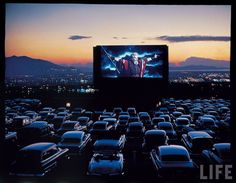 We went to Drive-in movies...
