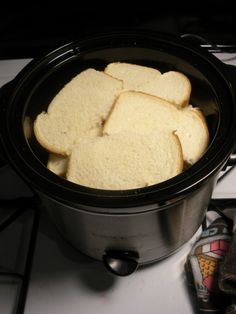 Overnight Crock Pot French Toast Great for Christmas morning :) I'll have to remember to get this going the night before!!