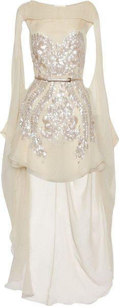 ANTONIO BERARDI/Embellished Silkchiffon Dress