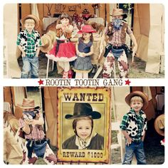 On invite, request wearing your western wear; WANTED poster with face cut out for photo booth;...