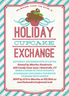 Holiday Cupcake Exchange designed by The Spotted Olive