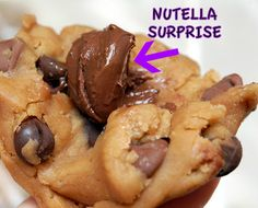Hugs & CookiesXOXO: TRIPLE CHOCOLATE CHIP, BROWNED BUTTER & SEA SALT COOKIES STUFFED WITH NUTELLA!