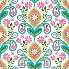 folk floral - design by yuyu
