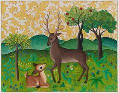Judy Coates Perez: Art Quilt Portfolio Deer tapestry