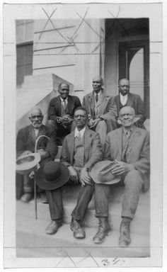 Attendants at Old Slave Day, Southern Pines, North Carolina    April 8, 1937    Photo forms part of the Portraits of African American ex-slaves from the U.S. WPA, Federal Writers' Project slave narratives collection    Old Slave Day was a day set aside annually for former African American slaves. Participants spent the day in the Municipal Park sharing their experiences and recollections with the thousands of people, black and white, who came to see and hear them.