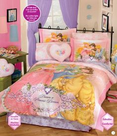 (Click to order - $177.89) Princess Diamond Comforter Bedding Set Full From Disney