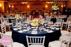 navy table cloth