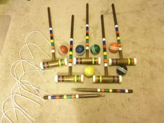 Our Croquet set was sometimes weapons!
