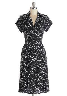 polka dot black and white dress $109