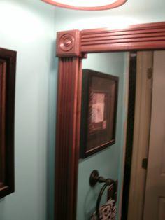 How to Update A Boring Bathroom, Part Three: Framing Out A Plain Bathroom Mirror