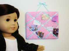 Fabric Cake: Mini Bulletin Board for 18 inch dolls and American Girl dolls