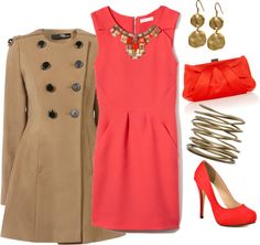 """""""Charming Coral"""" by mmmorman on Polyvore"""